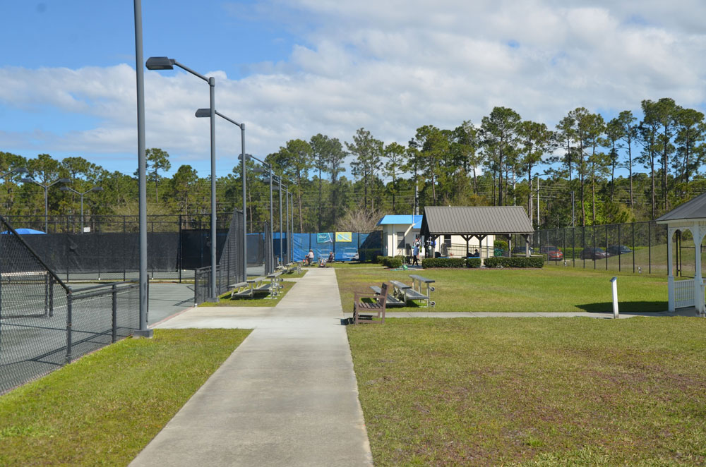 The look of the Palm Coast Tennis Center is about to change, so will its name. (© FlaglerLive)