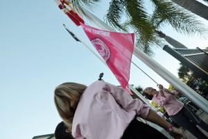 pink army flag raising gsb 2015