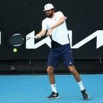 Reilly Opelka won his first-round Australian Open match in straight sets. (Tennis Australia)
