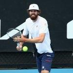 Reilly Opelka warming up for the Australian Open this week. (Tennis Australia)