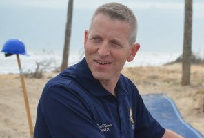 House Rep. Paul Renner was at Flagler's EOC Friday and Saturday. (© FlaglerLive)