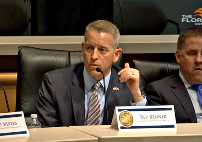 Rep. Paul Renner's opposition to a vacation-rental bill was not enough to convince a House subcommittee this morning to kill the bill. (Florida Channel)
