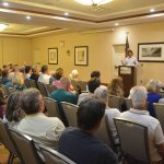 As such neighborhood meetings go regarding planned development, Wednesday's at the Hilton Garden Inn was rather civil well-tempered. Michael Chiumento, the attorney representing the developer, presented the development and answered questions for almost an hour. (© FlaglerLive)