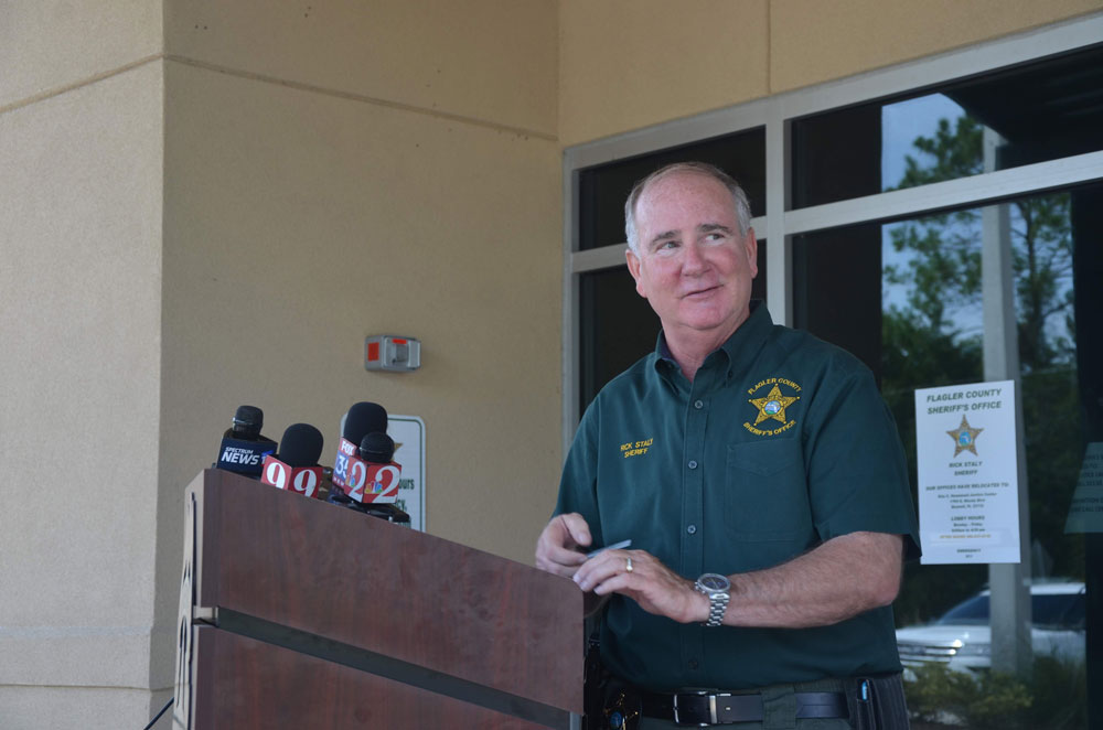 Sheriff Rick Staly is hoping for a less intensely competitive election campaign than the one he fought in 2016, and has his eyes on a third term if he wins a second. (© FlaglerLive)