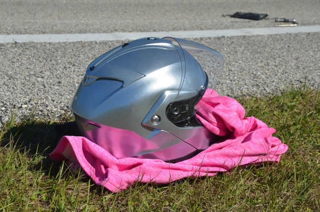 All the riders wore helmets, which likely helped contain injuries. Click on the image for larger view. (© FlaglerLive)