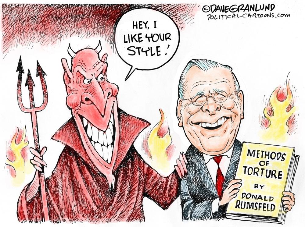 Donald Rumsfeld Legacy by Dave Granlund, PoliticalCartoons.com.