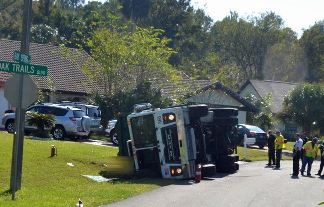 It is the first incident involving Waste Pro, resulting in a fatality, since the company has been servicing Palm Coast and Flagler County for over a decade. (c FlaglerLive)