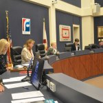 The Flagler County School Board. Members are currently paid $34,594 a year, a salary set by the state. (© FlaglerLive)