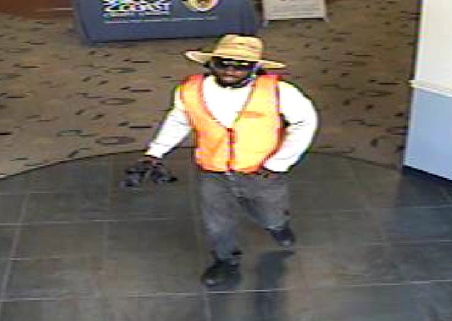 The Sheriff's Office is looking for the man above in connection with an alleged robbery of the Space Coast branch on Lupi Court in Palm Coast.