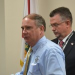 Jack Bisland, right, will be Sheriff-elect Rick Staly's under-sheriff come Jan. 3. (© FlaglerLive)