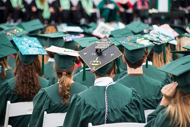It's graduation for 80 graduate students at Stetson University today. See below. (Facebook)