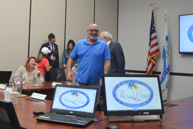 Steven Nobile is leaving the Palm Coast City Council behind, three and a half years into his term. (© FlaglerLive)
