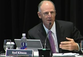 Syd Kitson underscored the UNF president's enthusiasm for the project. (© FlaglerLive via Florida Channel)