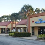 The new Tax Collector's branch location in Palm Coast will open at St. Joe Plaza, immediately adjacent to the Brown Dog pub. (© FlaglerLive)