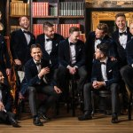 The current cast of the Ten Tenors.