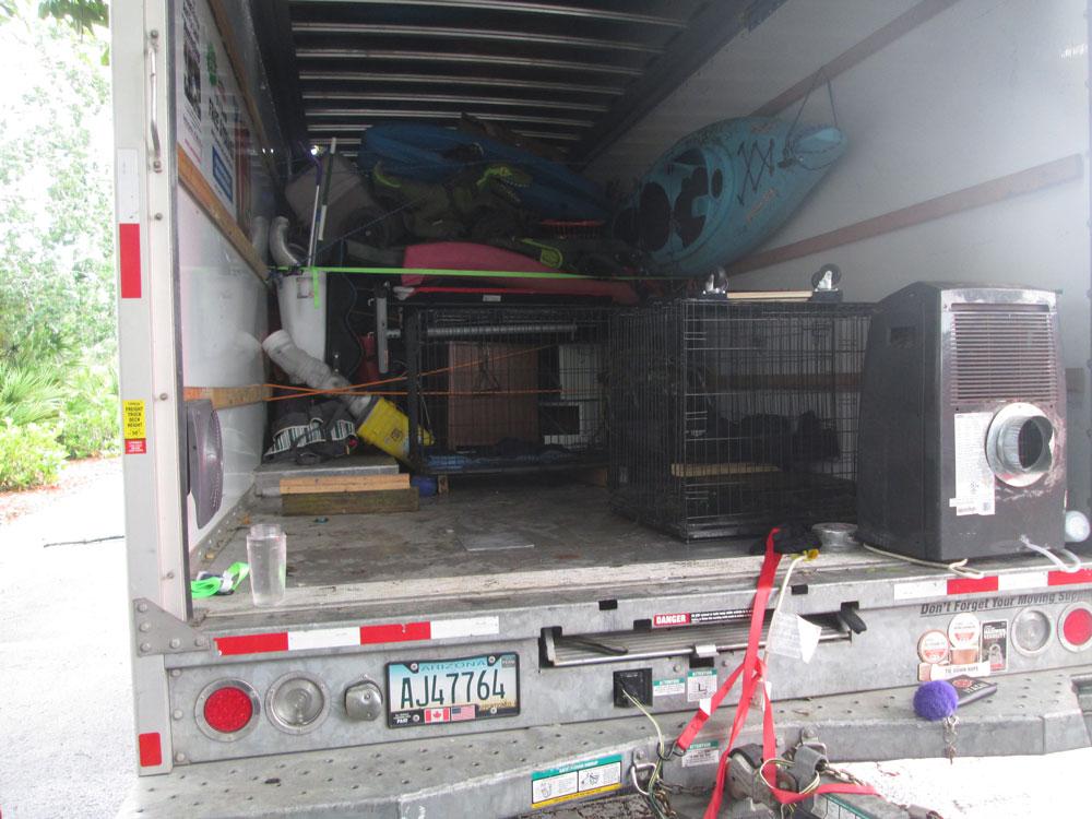 animal cruelty u-haul truck heat