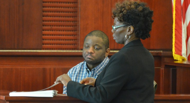 For several excruciating minutes, Assistant Public Defender Regina Nunnally went through a stack of glossy pictures showing the victim's bruises and injuries to her alleged attacker, Obtravis Watkins, as he testified on the stand today. The prosecution could not have been more effective to incriminate Watkins. He was found guilty of attempted murder and other charges. (c FlaglerLive)