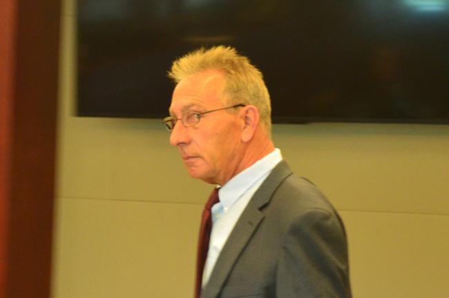 David Zlokas as he was about to be sentenced today in Flagler County circuit court. (c FlaglerLive)