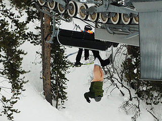 There must be an easier way to get on a ski lift??