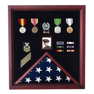 Flag Photo and Badge Display Case
