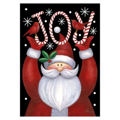 Joy Santa Christmas Garden Flag