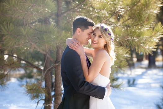Flagstaff Wedding Packages Winter Elopement