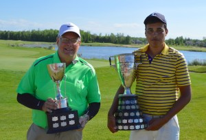 Robert Irvine (left) and Nichollas Brisebois are the 2016 OVGA Senior Men's and Men's Match Play Champions (Photo: Joe McLean)