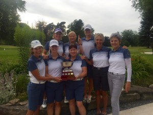 The winning 2016 Brockville Women's Intersectionals team. (Photo: Derek MacDonald)