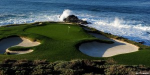 The 7th green at Pebble Beach Golf Links
