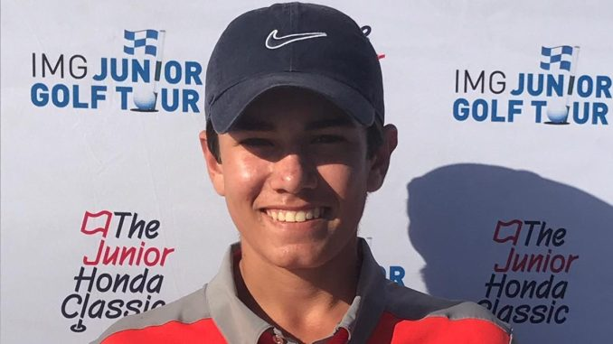 James Newton of Ottawa wins the Boys 14-15 Division at the 2019 Junior Honda Classic