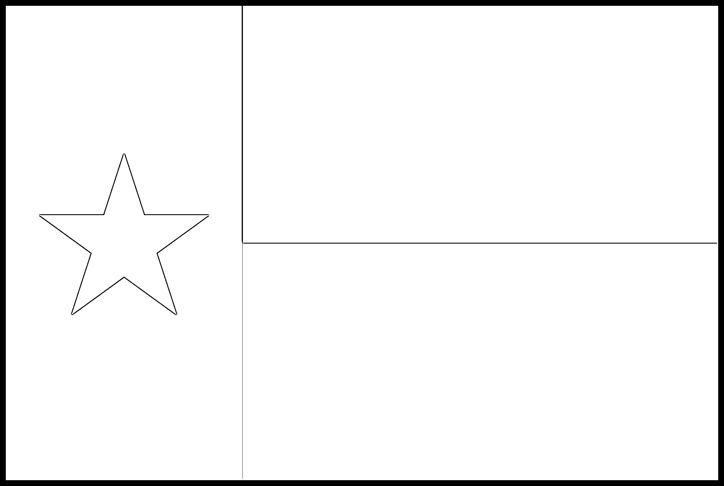 Texas Flag Coloring Page State Flag Drawing Flags Web