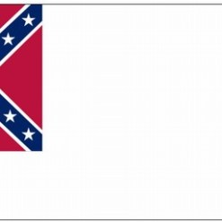 3'x5' Printed Nyl. 2nd Confederate Flag