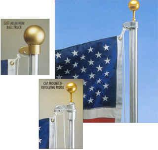 20' Satin Estate Aluminum Flagpole