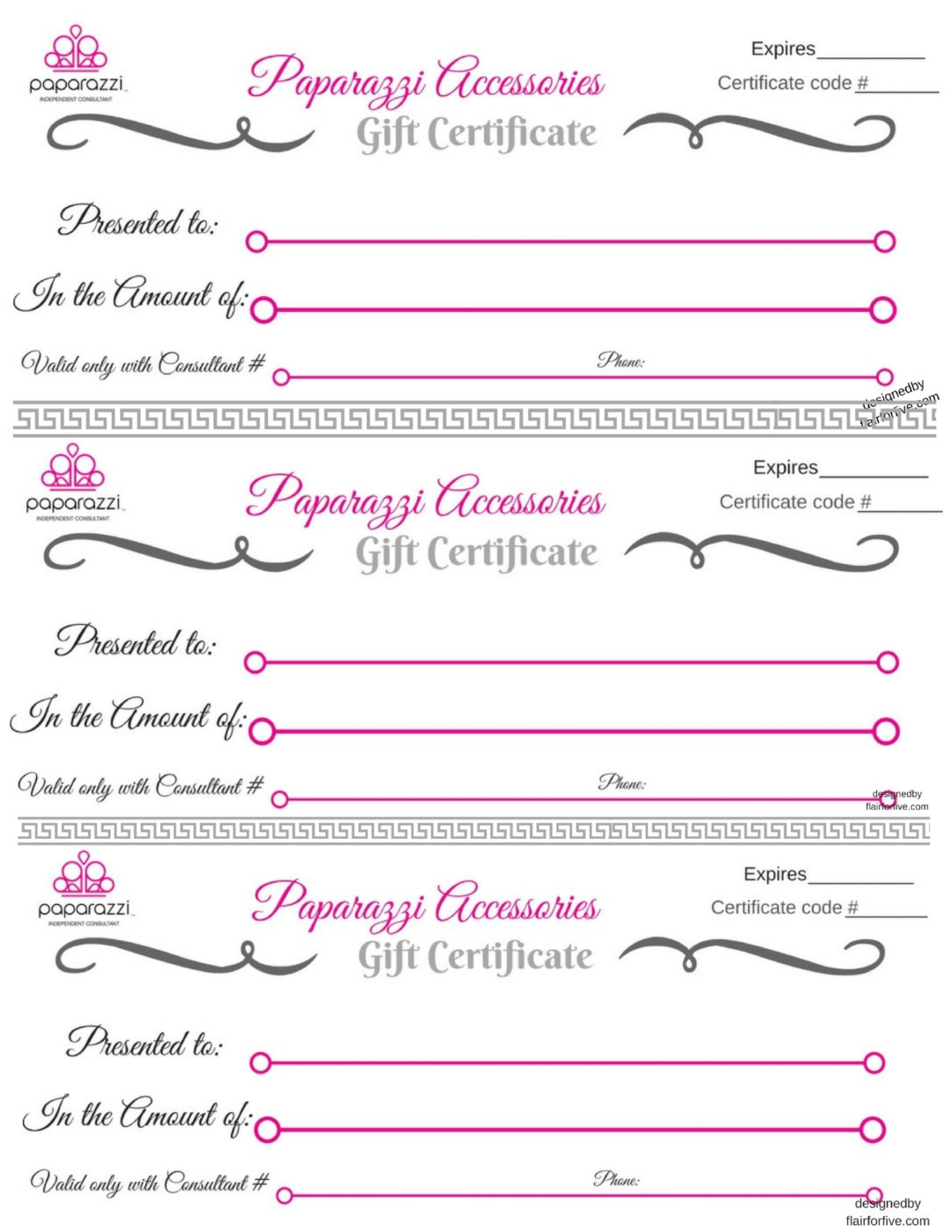 Paparazzi T Certificate