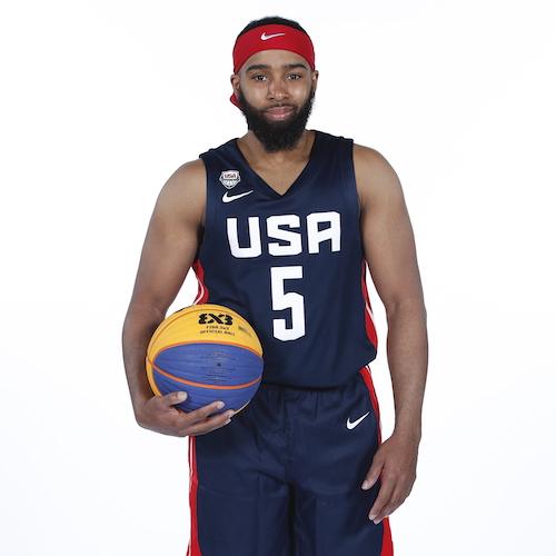 Team USA 3x3 basketball player Dominique Jones.