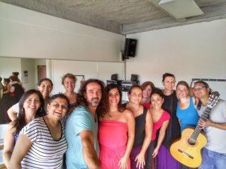 Répétition en studio pour le Festival flamenco sur la rue Bernard, Montréal, été 2016