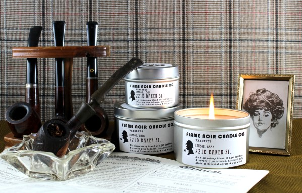 221B Baker St. - Sherlock Holmes inspired all natural soy wax candle - Flame Noir Candle Co