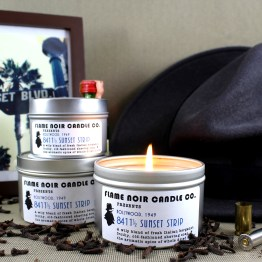 8411 1/2 Sunset Strip - Lew Archer inspired all natural soy wax candle - Flame Noir Candle Co