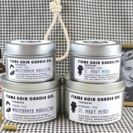Agatha's Angels - Whitehaven Mansions + St. Mary Mead - Hercule Poirot + Miss Marple inspired all natural soy wax candle set - Flame Noir Candle Co