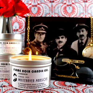 Whitehaven Mansions - Hercule Poirot inspired all natural soy was candle - Flame Noir Candle Co