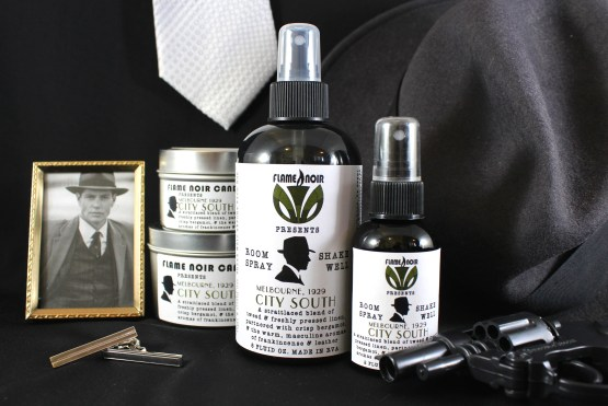 City South - DI Jack Robinson inspired handmade soy wax candle + room spray set - Flame Noir Candle Co