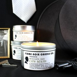 City South - DI Jack Robinson inspired all natural soy wax candle - Flame Noir Candle Co
