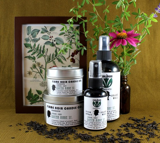 Queen Anne St. - Dr. John Watson inspired all natural soy wax candle + room spray set - Flame Noir Candle Co