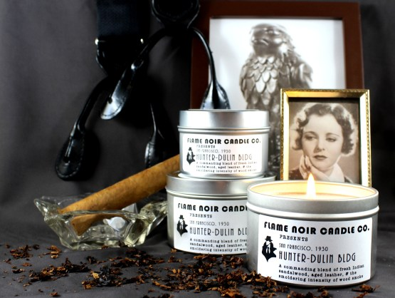 Hunter-Dulin Bldg - Sam Spade inspired all natural soy wax candle - Flame Noir Candle Co