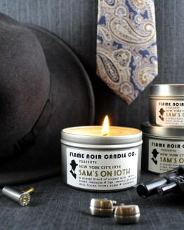 Sam's on 10th - Archie Goodwin inspired all natural soy candle by Flame Noir Candle Co.
