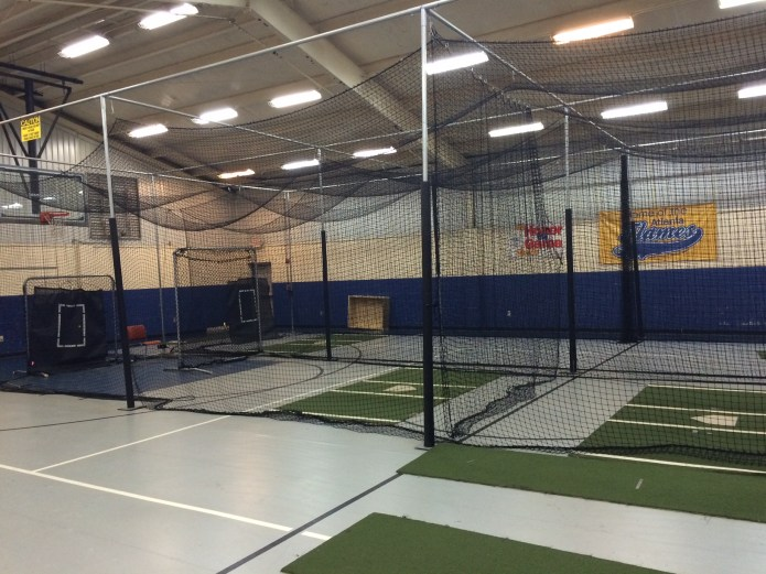 One view of the Atlanta Flames Indoor Practice Facility which can be converted into different setups.