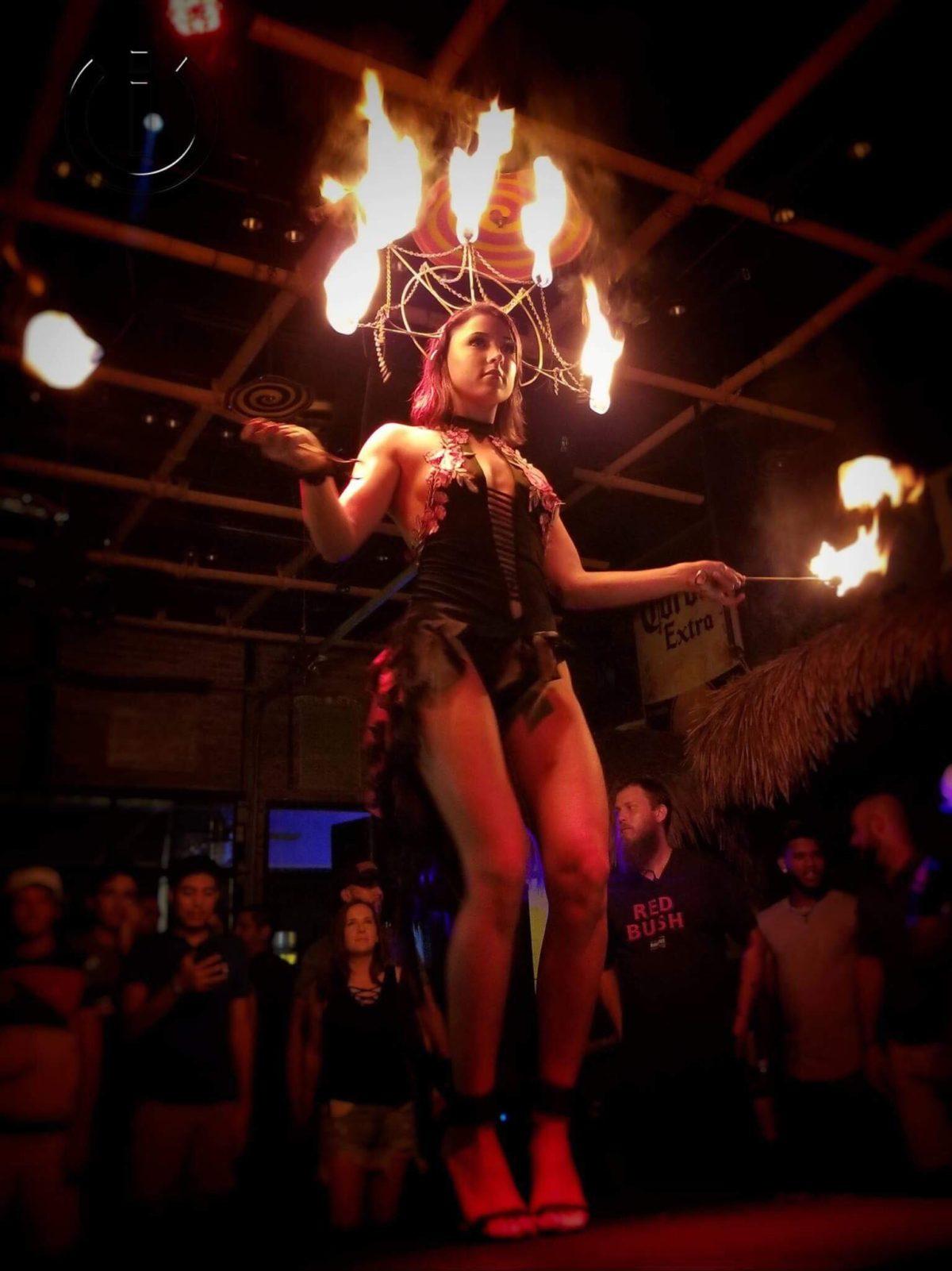 belly dancers Fire dancers