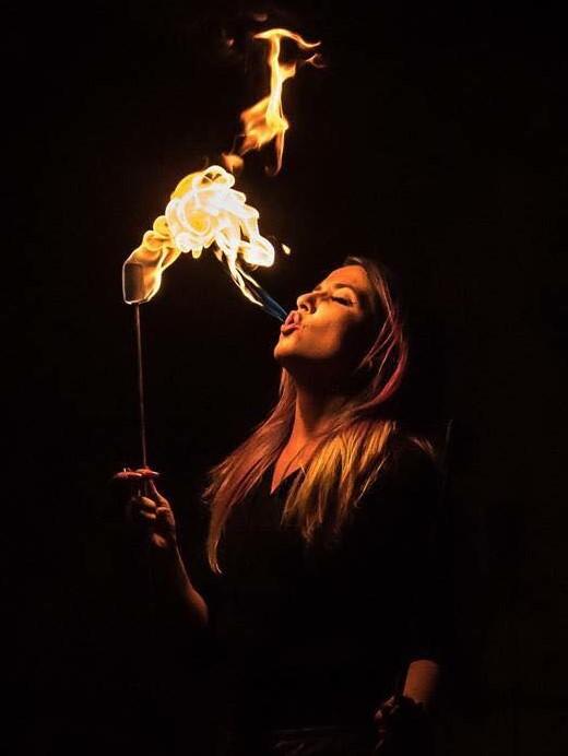 Great Falls Fire Performer Siren Iris Flamewater Circus