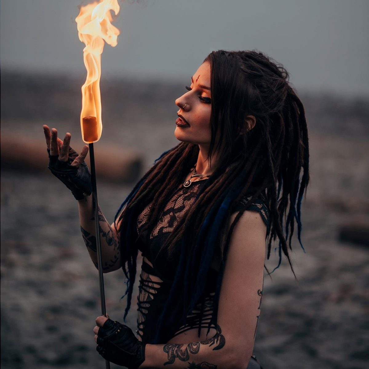 Hollow Fire Eating Torches Gamma Ra Flamewater Circus