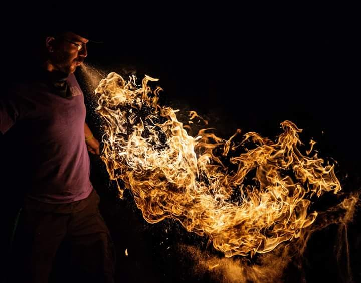 Nashville Fire Breather Zeus Flamewater Circus